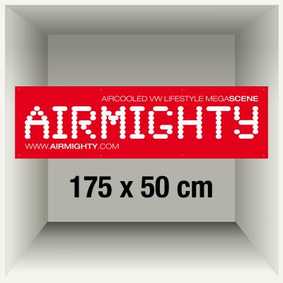 AirMighty Banner 175x50cm red