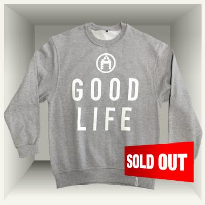AirMighty Grey 'A GOOD LIFE' Sweater